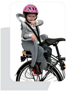 на багажнике велосипеда1