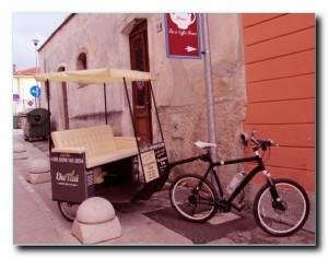 Уютное такси на велосипеде