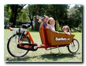 детей спереди велосипеда