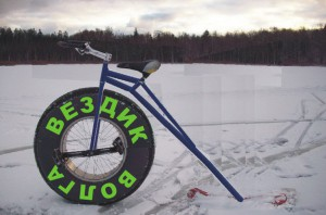 Зимой по Волге на велосипеде
