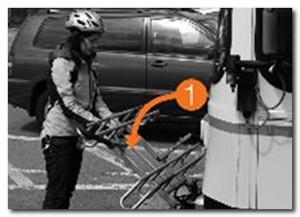 крепление велосипеда на автобусе