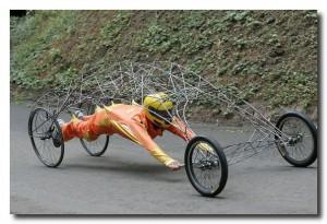Лёжа управлять велосипедом можно