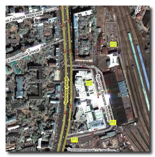 карта. Курский вокзал карта
