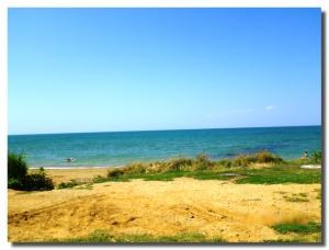 Пляж в селе Угловое