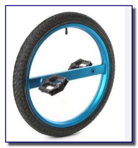 колесо с педалями