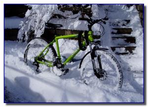 Зимние катания на велосипеде