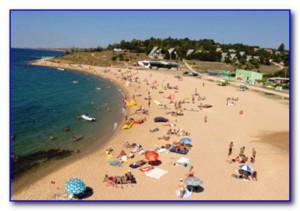 песчанный берег Крыма
